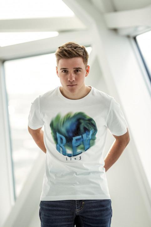 R.EV 1703 by Remco Evenepoel T-shirts (korte mouwen) wit REV211MT 006_WHITE img3
