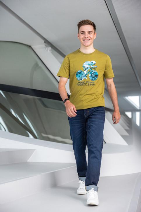 R.EV 1703 by Remco Evenepoel T-shirts (korte mouwen) groen REV211MT 008_GREEN MOSS img1