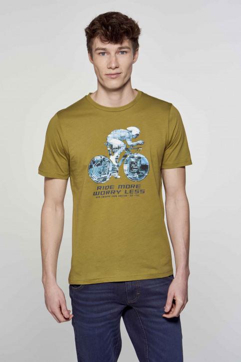 R.EV 1703 by Remco Evenepoel T-shirts (korte mouwen) groen REV211MT 008_GREEN MOSS img4