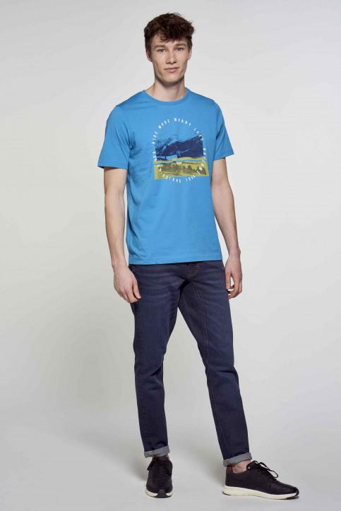 R.EV 1703 by Remco Evenepoel T-shirts (korte mouwen) blauw REV211MT 009_CARIBBEAN SEA img2