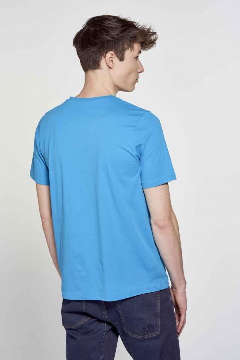 R.EV 1703 by Remco Evenepoel T-shirts (korte mouwen) blauw REV211MT 009_CARIBBEAN SEA img3