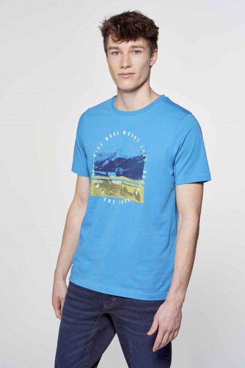 R.EV 1703 by Remco Evenepoel T-shirts (korte mouwen) blauw REV211MT 009_CARIBBEAN SEA img4