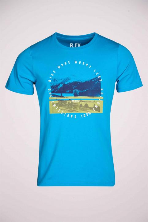 R.EV 1703 by Remco Evenepoel T-shirts (korte mouwen) blauw REV211MT 009_CARIBBEAN SEA img5