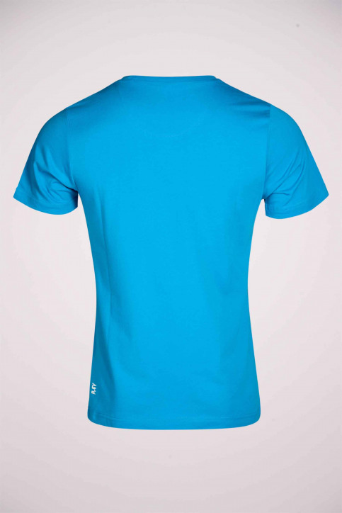 R.EV 1703 by Remco Evenepoel T-shirts (korte mouwen) blauw REV211MT 009_CARIBBEAN SEA img6