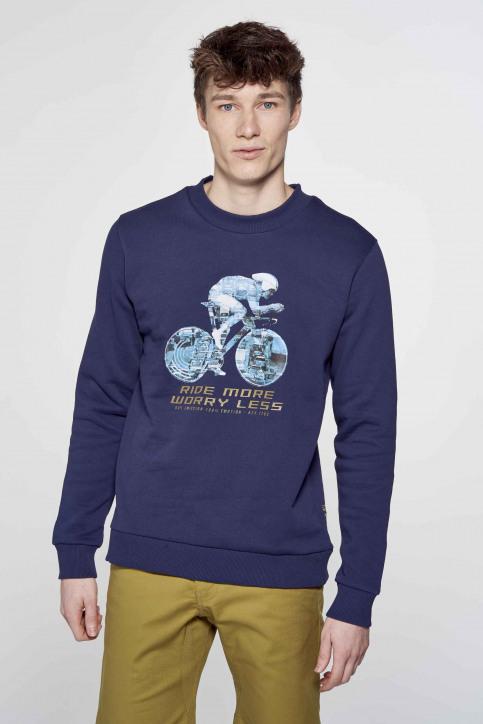 R.EV 1703 by Remco Evenepoel Sweaters met ronde hals blauw REV211MT 013_NAVY img3