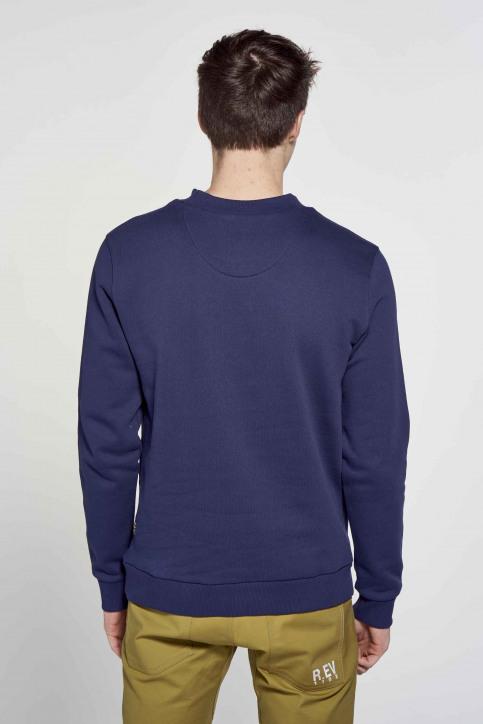 R.EV 1703 by Remco Evenepoel Sweaters met ronde hals blauw REV211MT 013_NAVY img4