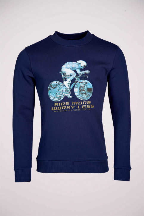 R.EV 1703 by Remco Evenepoel Sweaters met ronde hals blauw REV211MT 013_NAVY img5