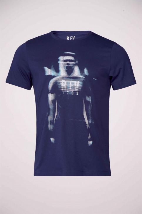 R.EV 1703 by Remco Evenepoel T-shirts (korte mouwen) blauw REV211MT 022_NAVY img2