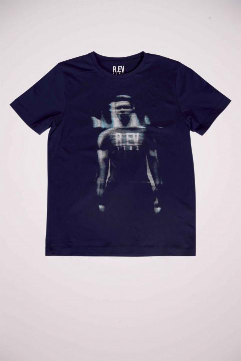 R.EV 1703 by Remco Evenepoel T-shirts (korte mouwen) blauw REV211MT 022_NAVY img4