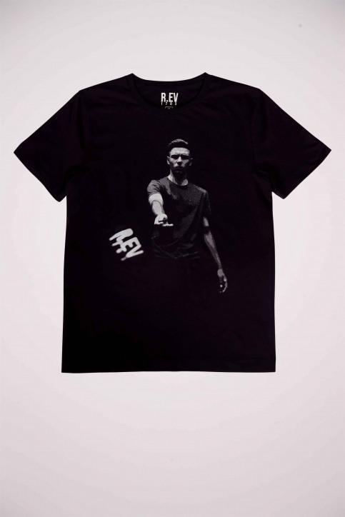 R.EV 1703 by Remco Evenepoel T-shirts (korte mouwen) zwart REV211MT 023_BLACK img4