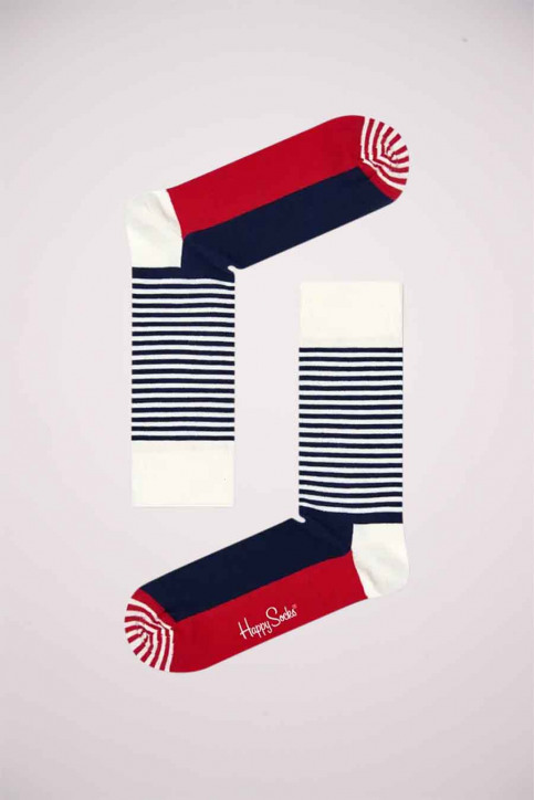 Happy Socks® Chaussettes multicoloré SH01068_HALF STRIPE img1