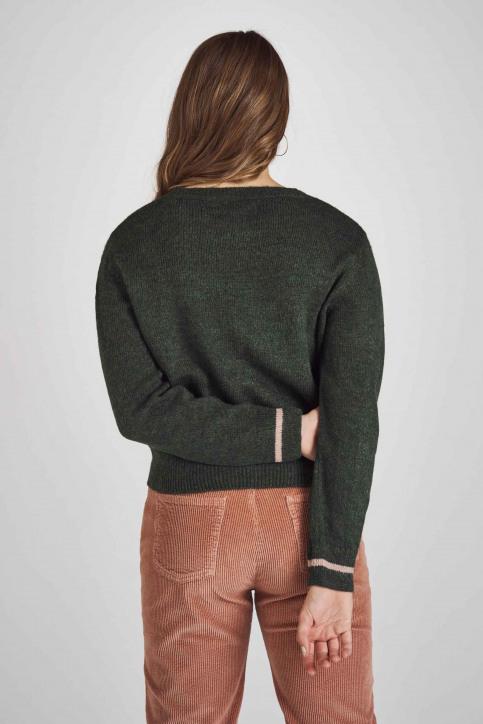 Stien Edlund Truien met ronde hals groen STI192WT 002_BOTANICAL GR img3