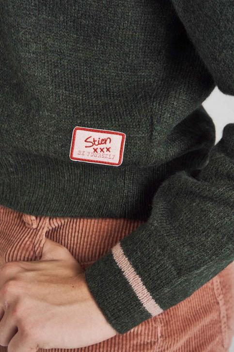 Stien Edlund Truien met ronde hals groen STI192WT 002_BOTANICAL GR img5