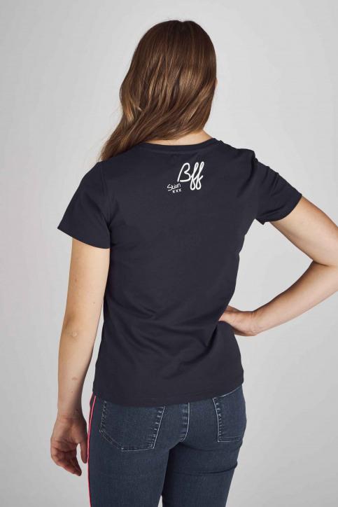 Stien Edlund T-shirts (manches courtes) bleu STI192WT 023_NIGHT BLUE img3