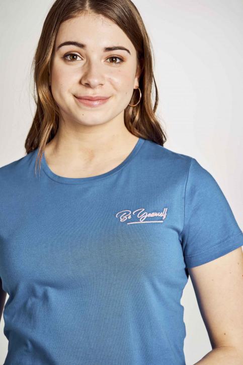 Stien Edlund T-shirts (korte mouwen) blauw STI201WT 023_ELECTRIC BLUE img4