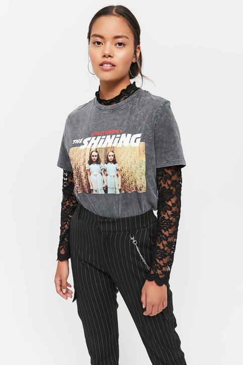 TALLY WEIJL T-shirts (manches courtes) gris STSCOSHIN_GRIS CHINE DARK img1