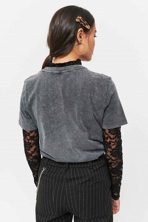 TALLY WEIJL T-shirts (manches courtes) gris STSCOSHIN_GRIS CHINE DARK img2