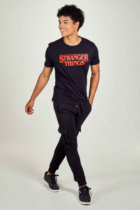 STRANGER THINGS T-shirts (korte mouwen) zwart STT3053_BLACK img1
