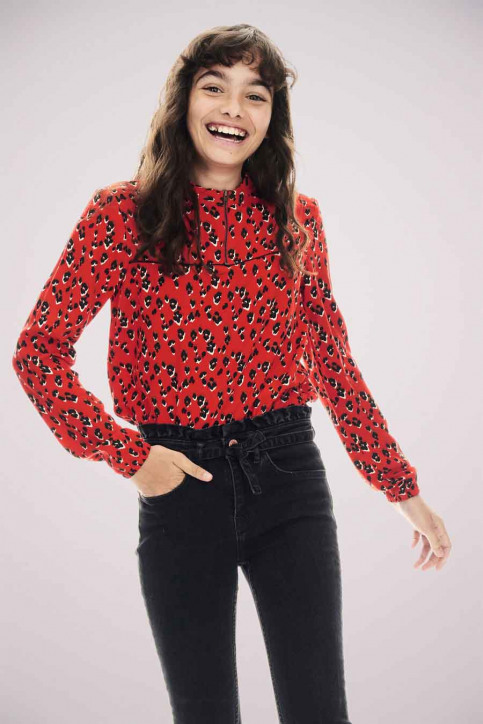 GARCIA Blouses manches longues rouge T02630_3439 RED ORANGE img1