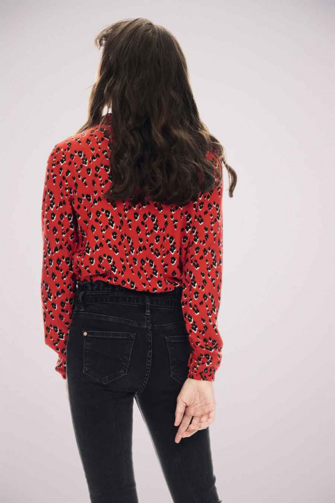 GARCIA Blouses manches longues rouge T02630_3439 RED ORANGE img4