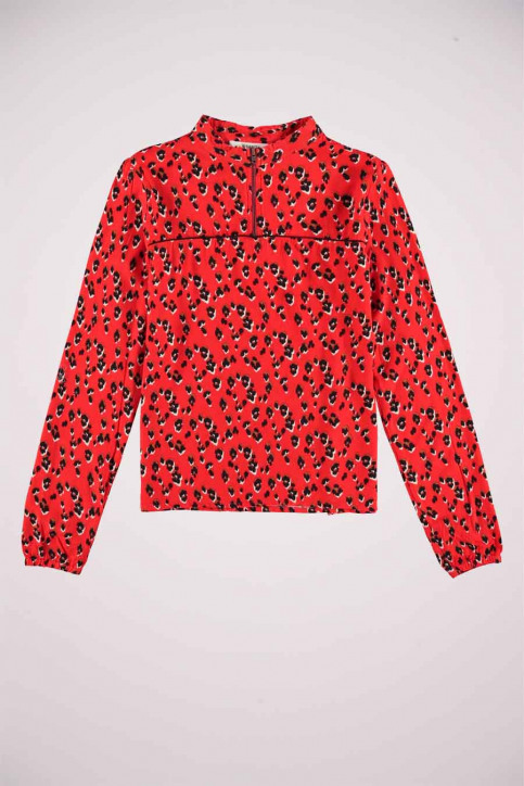 GARCIA Blouses manches longues rouge T02630_3439 RED ORANGE img5