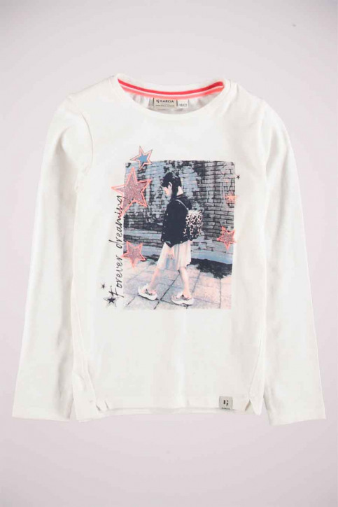 GARCIA Chemisiers manches longues blanc T04603_53 OFF WHITE img1