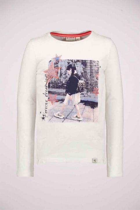 GARCIA Chemisiers manches longues blanc T04603_53 OFF WHITE img3