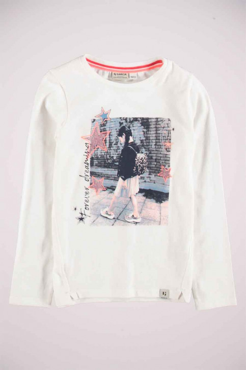 GARCIA Chemisiers manches longues blanc T04603_53 OFF WHITE img6