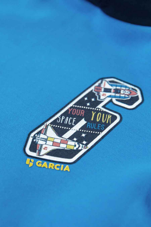 GARCIA Sweaters met kap blauw T05662_3183 SURF BLUE img3