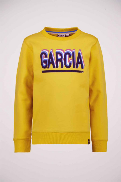 GARCIA Sweaters met O-hals geel T05665_5453 FIRE FLY img1
