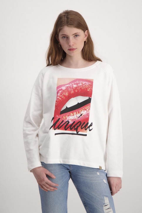 BlendShe Sweaters met ronde hals wit TYRON L SW_20004BRIGHT WH img1