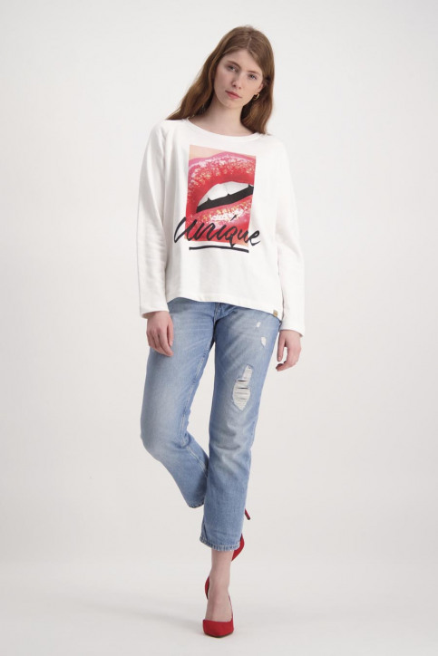 BlendShe Sweaters met ronde hals wit TYRON L SW_20004BRIGHT WH img2