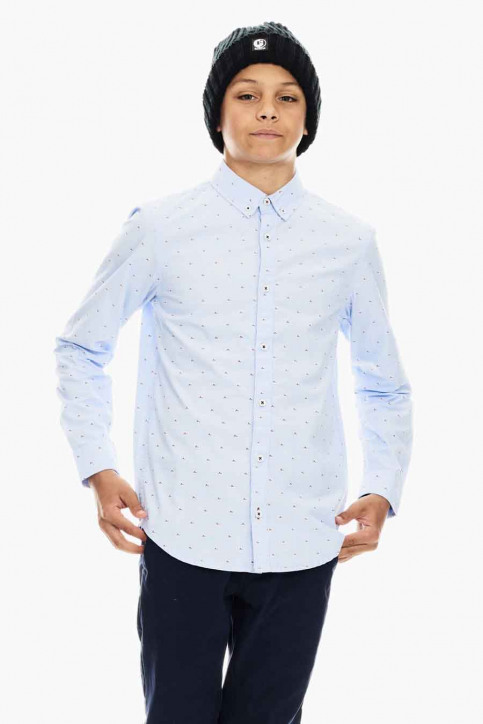 GARCIA T-shirts manches longues bleu U03432_SKY BLUE 2574 img1