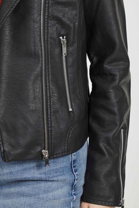 VILA® Korte jassen zwart VICARA FAUX LEATHER_BLACK img5