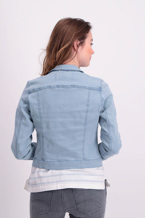 VERO MODA Vestes courtes denim VMHOT SOYA LS DENIM_LIGHT BLUE DENI img2