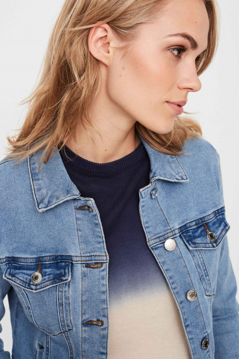 VERO MODA Vestes courtes denim VMHOT SOYA LS DENIM_LIGHT BLUE DENI img4