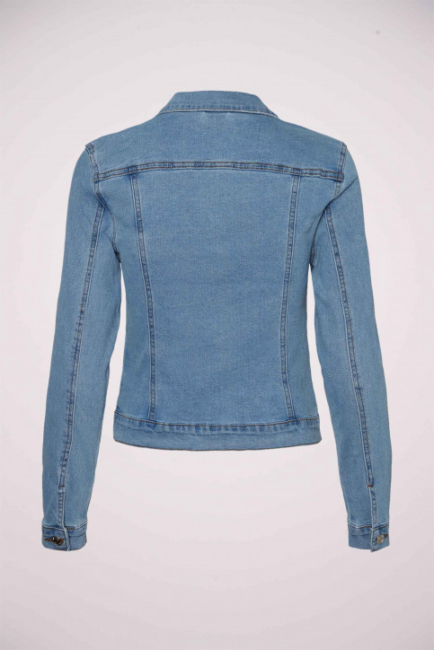 VERO MODA Vestes courtes denim VMHOT SOYA LS DENIM_LIGHT BLUE DENI img7
