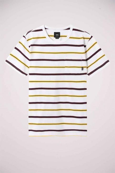 Vans T-shirts (korte mouwen) wit VN0A4TR2WHT1_WHT1 WHITE img3