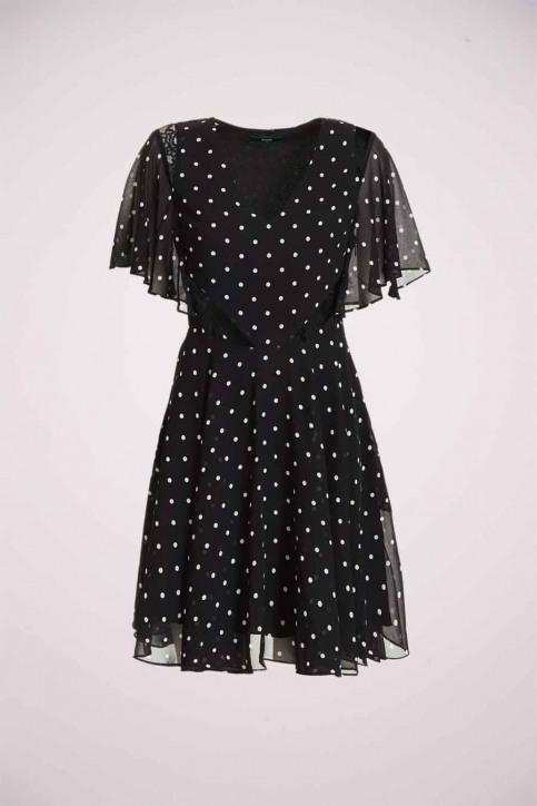 GUESS Robes 3/4 noir W0YK1CW8SL2_PL94 BLACK WH S img1