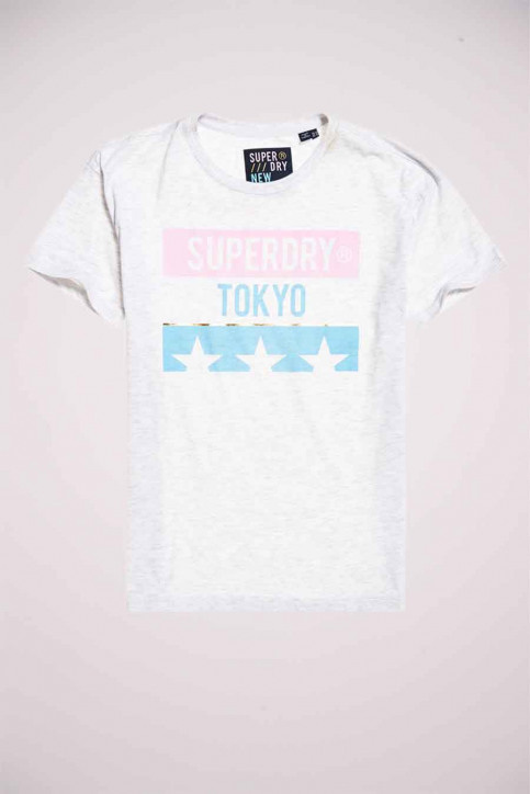 SUPERDRY T-shirts (manches courtes) gris W1010191B_54G ICE MARL img3
