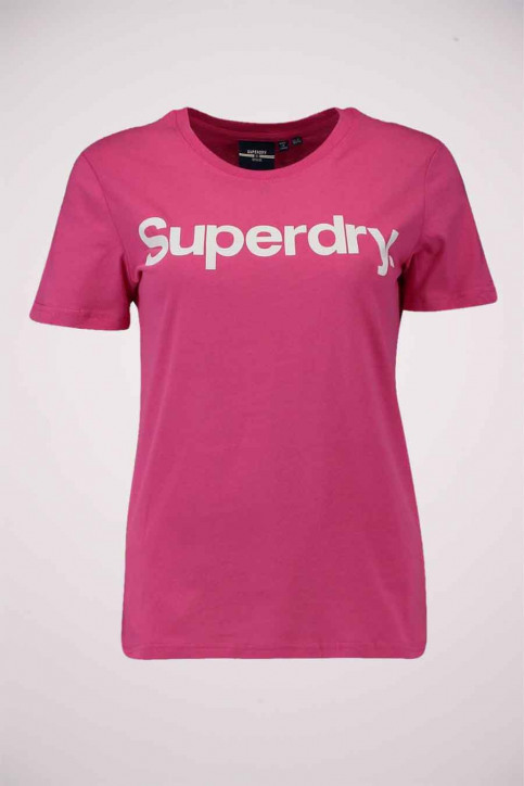 SUPERDRY T-shirts (manches courtes) rose W1010219A_MME HOT PINK img4