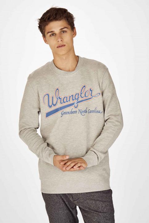 Wrangler Sweaters met ronde hals grijs W6B6HYX37_MID GREY img1