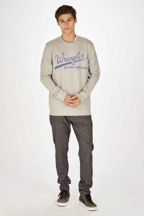 Wrangler Sweaters met ronde hals grijs W6B6HYX37_MID GREY img2