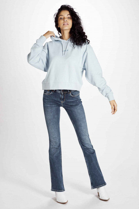 Wrangler Sweaters met kap blauw W6N3HAX2B_CASHMERE BLUE img2