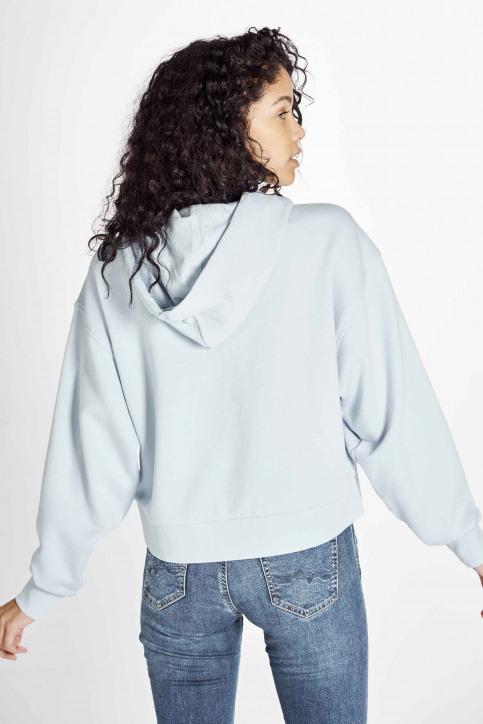 Wrangler Sweaters met kap blauw W6N3HAX2B_CASHMERE BLUE img3