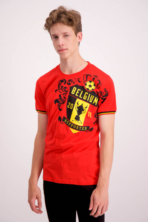 ZEB Style Lab T-shirts (manches courtes) rouge WK MEN CREST S18_RED img1