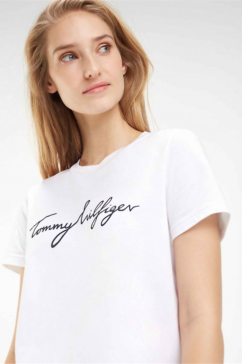 Tommy Jeans Tops uni manche courte blanc WW0WW24967100_100 CLASSIC WHI img4