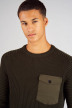CORE BY JACK & JONES Truien met ronde hals groen 12140246_ROSIN img4
