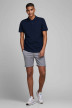 JACK & JONES JEANS INTELLIGENC Shorts gris 12169509_GREY MELANGE img2
