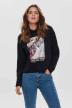 ONLY Sweaters met kap zwart 15186517_BLACK img1